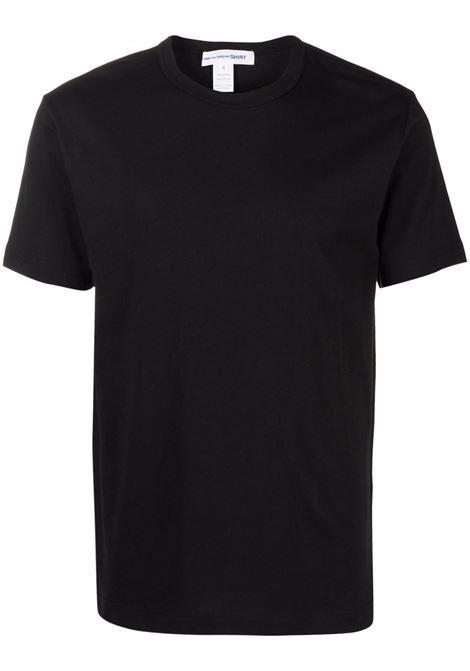 t-shirt in cotone uomo nera COMME DES GARÇONS SHIRT | T-shirt | FH-T013-W211