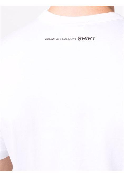 cotton t-shirt man white COMME DES GARÇONS SHIRT | T-shirts | FH-T013-W213