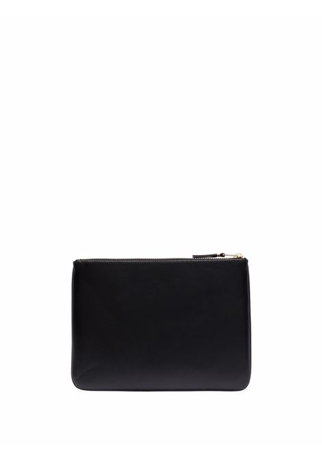 wallet with logo unisex black in leather COMME DES GARÇONS WALLET | Wallets | SA5100800