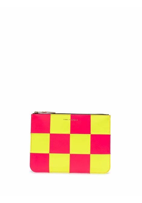 portafoglio a scacchi unisex bicolore in pelle COMME DES GARÇONS WALLET | Portafogli | SA5100FS1