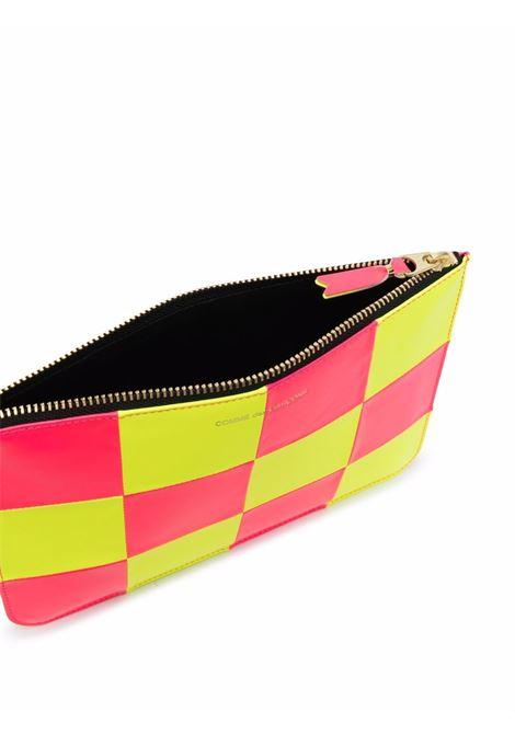 checkered wallet unisex bicolor in leather COMME DES GARÇONS WALLET | Wallets | SA5100FS1