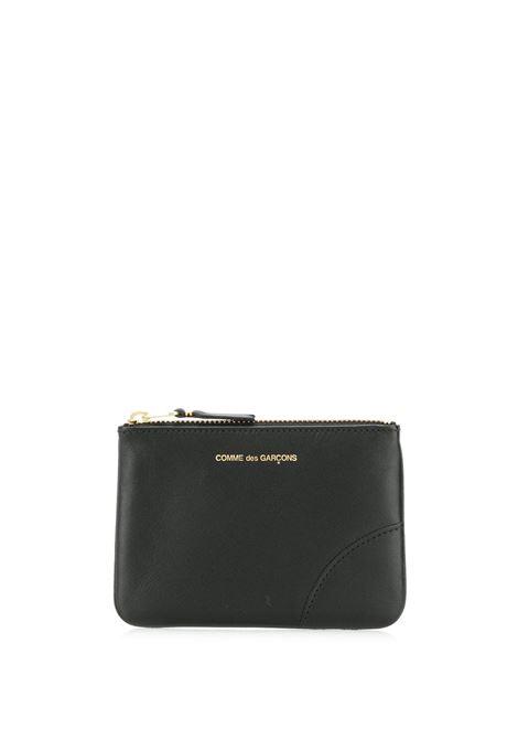 portafoglio con logo unisex nero in pelle COMME DES GARÇONS WALLET | Portafogli | SA8100800