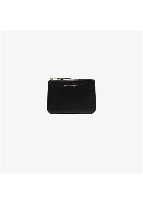 logo wallet unisex black in leather COMME DES GARÇONS WALLET | Wallets | SA8100800