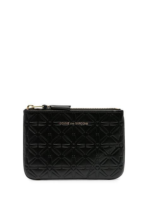 logo wallet unisex black in leather COMME DES GARÇONS WALLET | Wallets | SA810E800