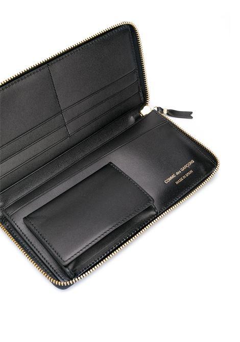 classic line wallet unisex black leather COMME DES GARÇONS WALLET | Wallets | SA0110800