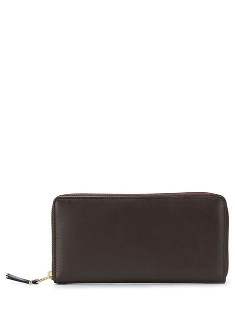 classic line wallet unisex brown in leather COMME DES GARÇONS WALLET | Wallets | SA0110801