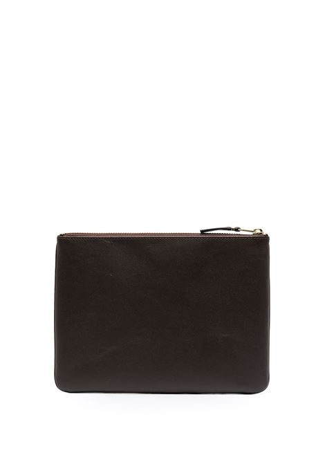 wallet with logo unisex brown in leather COMME DES GARÇONS WALLET | Wallets | SA5100801