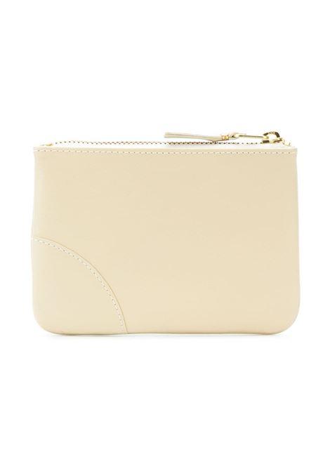 logo wallet unisex cream in leather COMME DES GARÇONS WALLET | Wallets | SA8100802