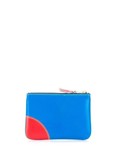 zip wallet unisex bicolor in leather COMME DES GARÇONS WALLET | Wallets | SA8100SFB/GR