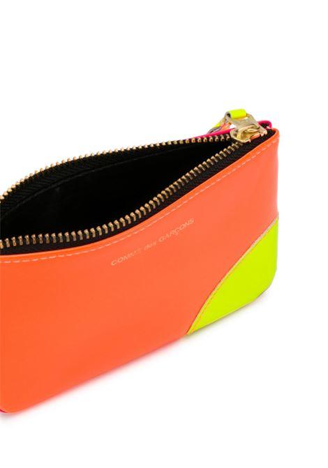portafoglio con zip unisex bicolore in pelle COMME DES GARÇONS WALLET | Portafogli | SA8100SFLO/P