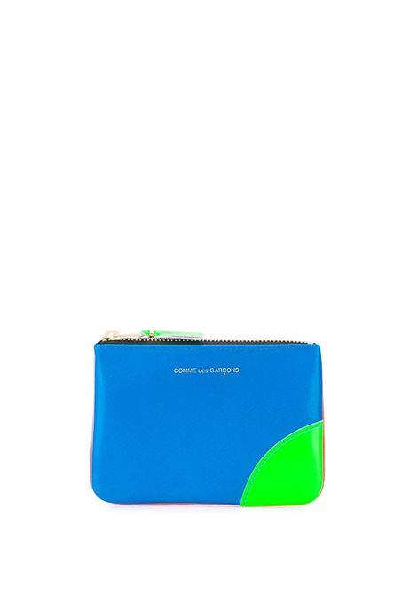 zip wallet unisex bicolor in leather COMME DES GARÇONS WALLET | Wallets | SA8100SFO/BL