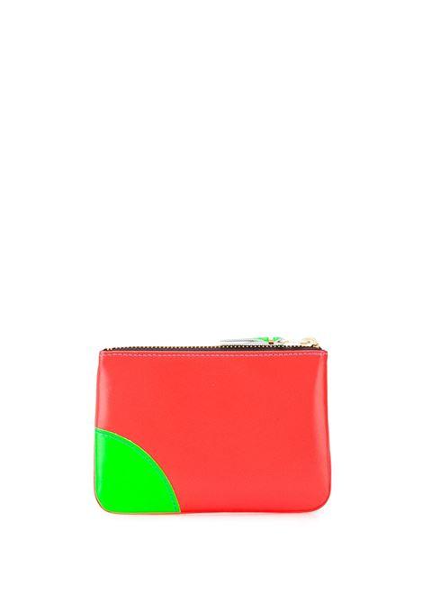portafoglio con zip unisex bicolore in pelle COMME DES GARÇONS WALLET   Portafogli   SA8100SFO/BL