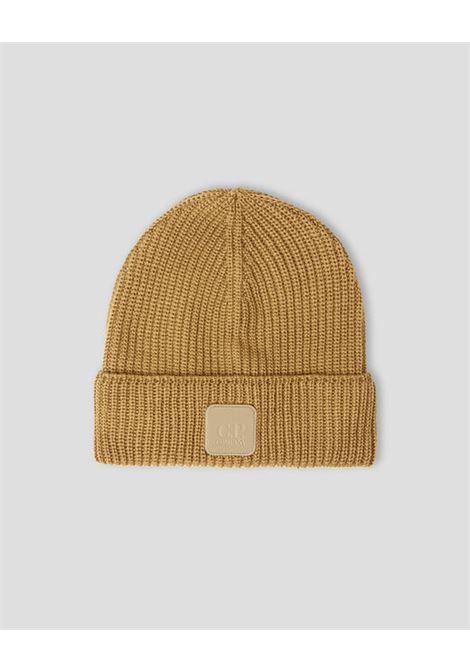 cappello in lana uomo cammello C.P. COMPANY | Cappelli | 11CMAC121A005509A326