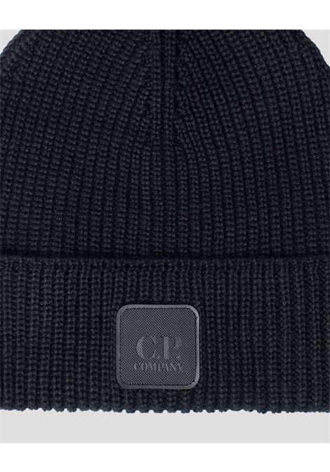wool hat man black C.P. COMPANY | Hats | 11CMAC121A005509A999