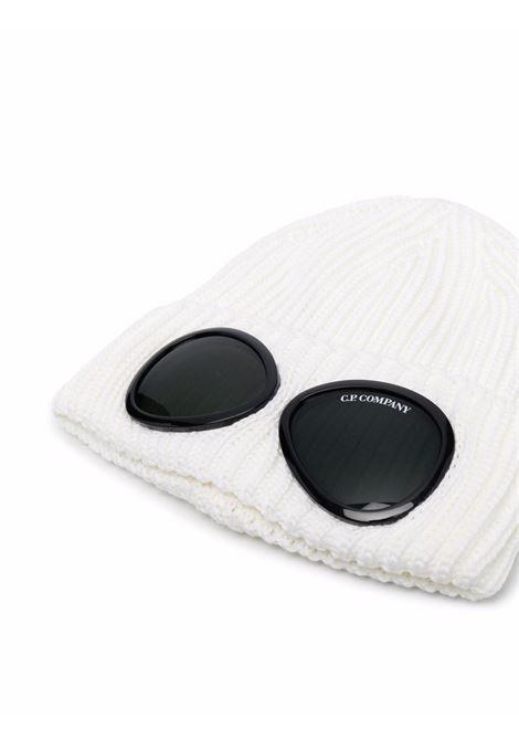 cappello con applicazioni uomo bianco in lana C.P. COMPANY | Cappelli | 11CMAC122A005509A103