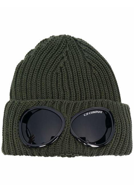 cappello con applicazioni uomo verde militare in lana C.P. COMPANY | Cappelli | 11CMAC122A005509A665