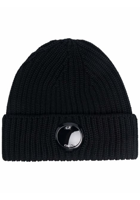 hat with application man black in wool C.P. COMPANY | Hats | 11CMAC272A005509A999