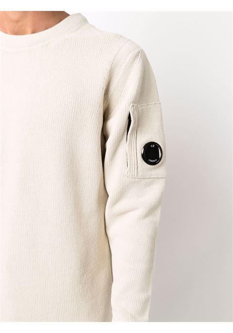 maglione a girocollo uomo bianco in cotone C.P. COMPANY | Maglieria | 11CMKN101A005558G116