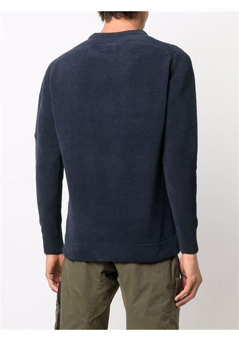 maglione a girocollo uomo blu in cotone C.P. COMPANY | Maglieria | 11CMKN101A005558G888