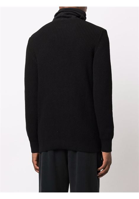 turtleneck sweater man black in wool C.P. COMPANY | Sweaters | 11CMKN103A004306C999
