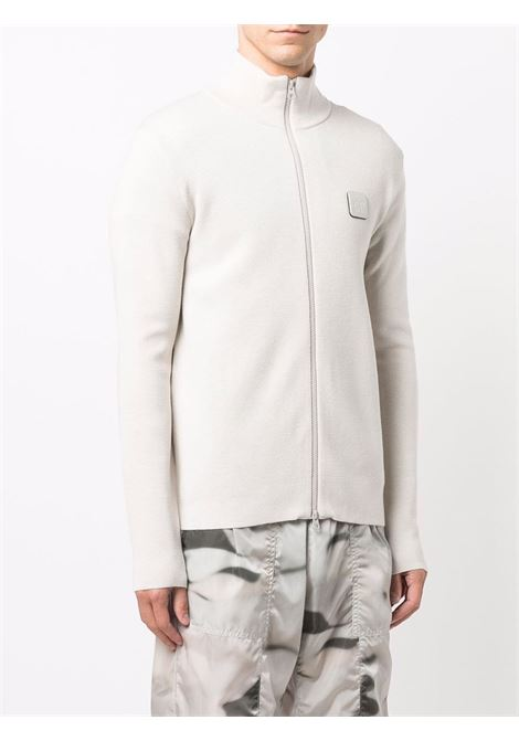 logo cardigan man white in wool C.P. COMPANY | Sweaters | 11CMKN124A005292A116