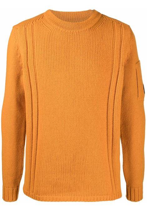 maglione a girocollo uomo arancione in lana C.P. COMPANY | Maglieria | 11CMKN142A005504A436