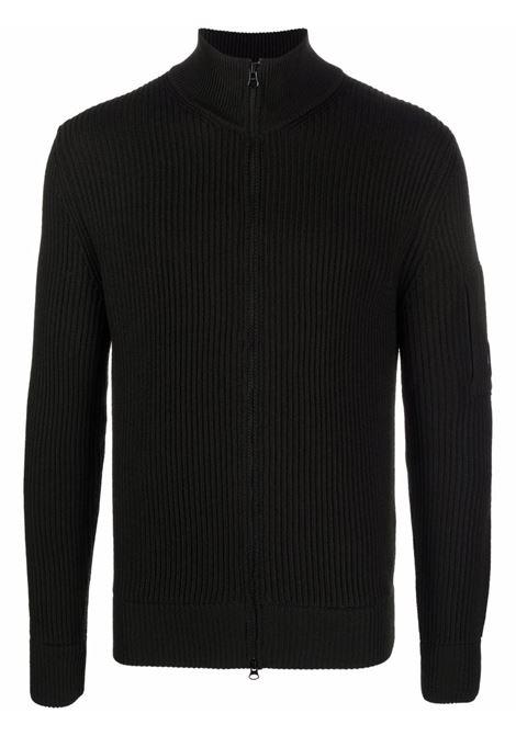 maglione con zip uomo nero C.P. COMPANY | Maglieria | 11CMKN180A005292A999