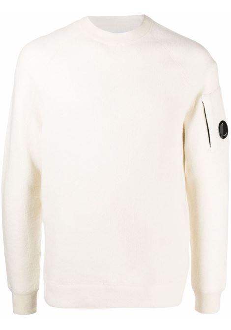 maglione con applicazione uomo bianco C.P. COMPANY | Maglieria | 11CMKN198A005798A103