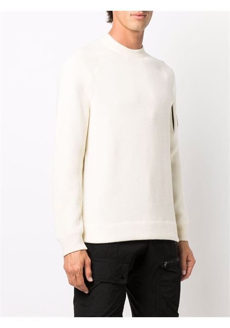 sweater with application man white C.P. COMPANY | Sweaters | 11CMKN198A005798A103