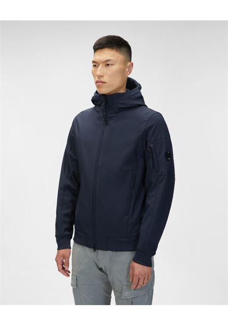 giacca leggera con cappuccio uomo blu C.P. COMPANY | Giacche | 11CMOW003A006097A888