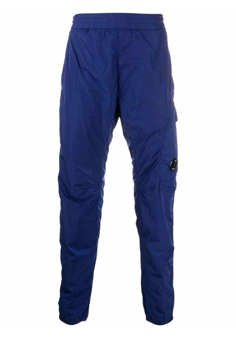 slim pants man blue in polyamide C.P. COMPANY | Trousers | 11CMPA167A005904G878