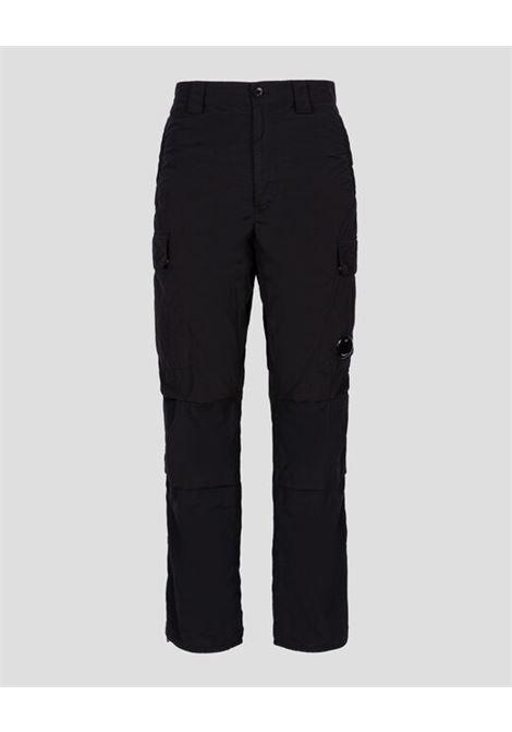 pantaloni cargo uomo neri in poliammide C.P. COMPANY | Pantaloni | 11CMPA229A005991G999