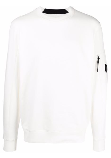 crewneck sweatshirt man white in cotton C.P. COMPANY   Sweatshirts   11CMSS055A005086W103