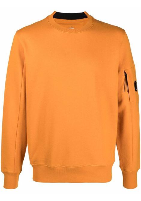 crewneck sweatshirt man orange in cotton C.P. COMPANY   Sweatshirts   11CMSS055A005086W436