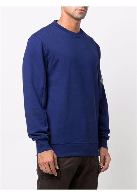 felpa a girocollo uomo blu in cotone C.P. COMPANY | Felpe | 11CMSS055A005086W878
