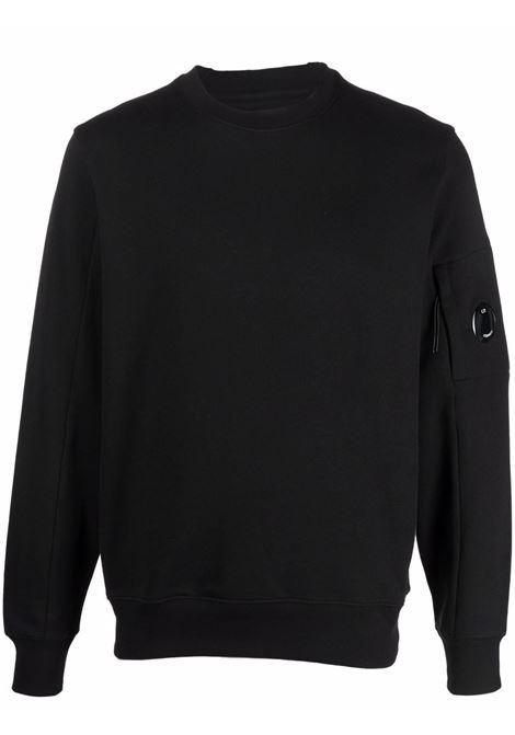 crewneck sweatshirt man black in cotton C.P. COMPANY | Sweatshirts | 11CMSS055A005086W999