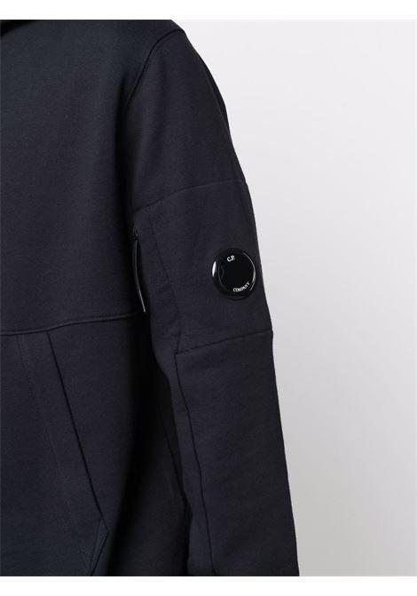 felpa con cappuccio uomo blu in cotone C.P. COMPANY | Felpe | 11CMSS056A005086W888
