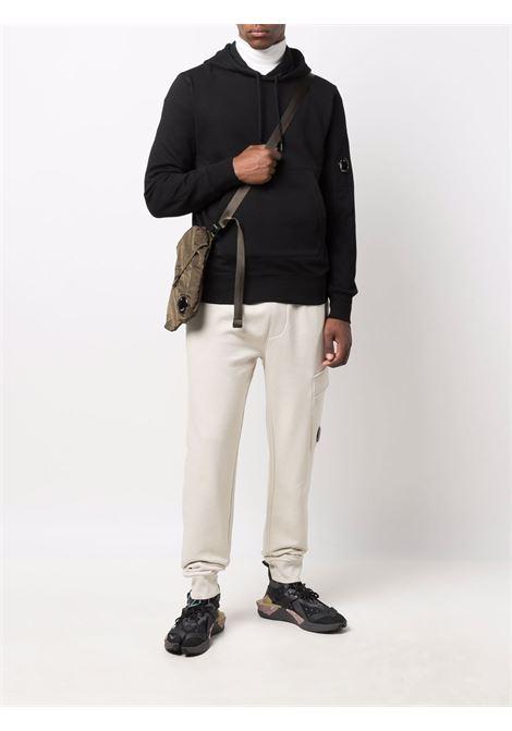 felpa con cappuccio uomo nera in cotone C.P. COMPANY | Felpe | 11CMSS056A005086W999