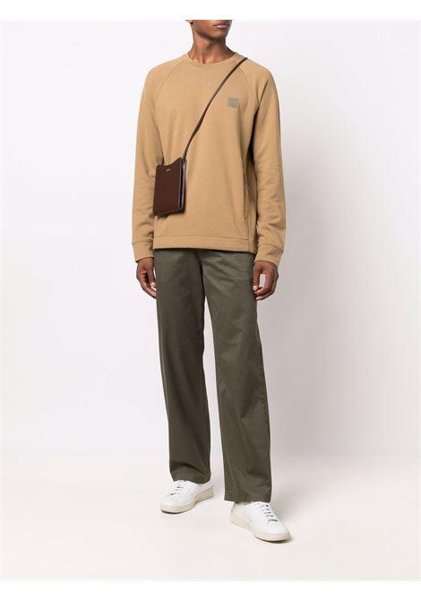 felpa a girocollo uomo marrone in cotone C.P. COMPANY | Felpe | 11CMSS064A005086W326