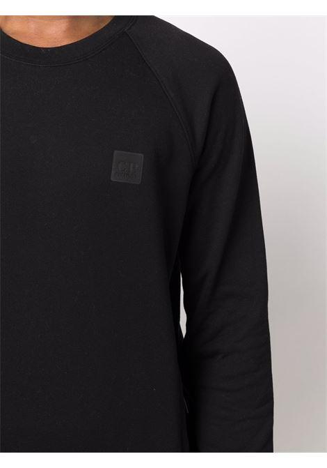 felpa girocollo uomo nera in cotone C.P. COMPANY | Felpe | 11CMSS064A005086W999