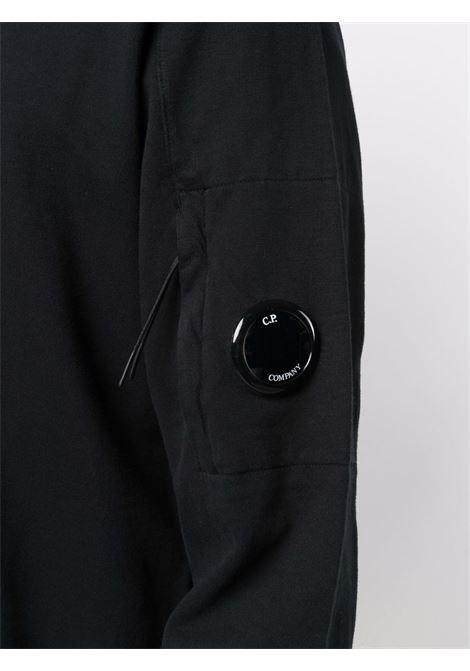 felpa con zip uomo nera in cotone C.P. COMPANY | Felpe | 11CMSS077A002246G999