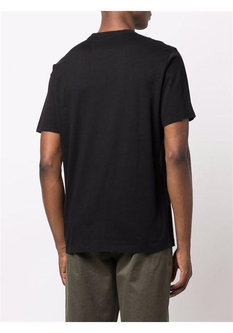 logo t-shirt man black in cotton C.P. COMPANY | T-shirts | 11CMTS045A005100W999