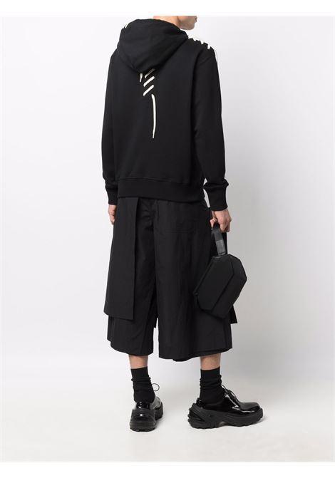 hoodie with lace man black in cotton CRAIG GREEN | Sweatshirts | CGAW21CJEHDY01