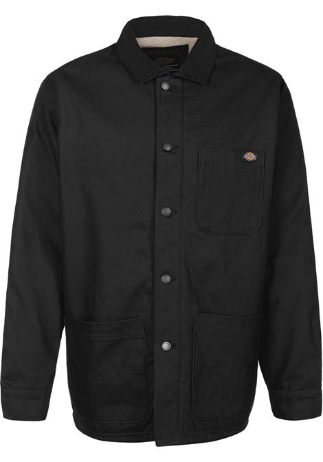 giacca con tasche uomo nera in cotone DICKIES | Giacche | DK0A4XGABLK1