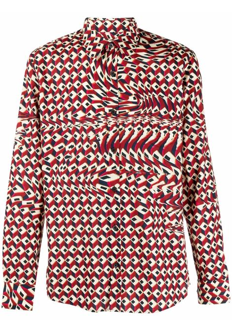 corbino shirt man red in cotton DRIES VAN NOTEN | Shirts | CORBINO 3069352