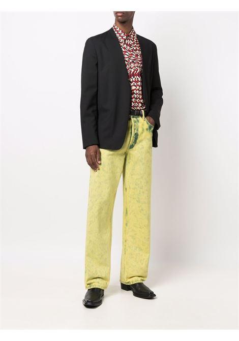 camicia corbino uomo rossa in cotone DRIES VAN NOTEN | Camicie | CORBINO 3069352