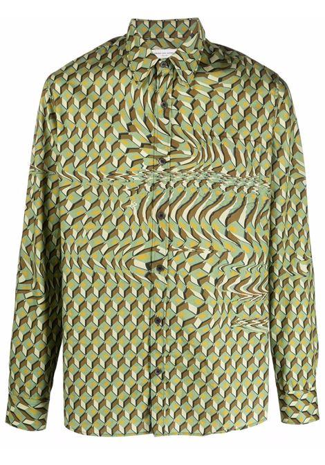 corbino shirt man kaki in cotton DRIES VAN NOTEN | Shirts | CORBINO 3069606