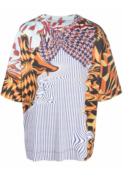 t-shirt con stampa uomo multicolor in cotone DRIES VAN NOTEN | T-shirt | HEN PR 3606353