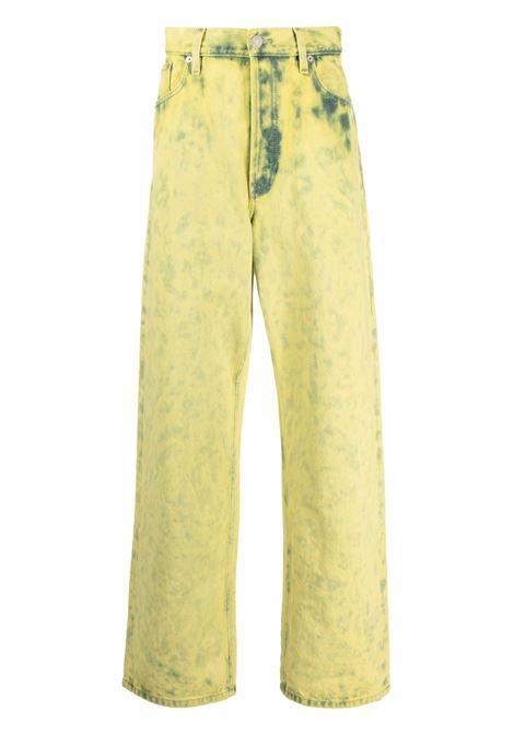 pine trousers man yellow in cotton DRIES VAN NOTEN | Trousers | PINE 3382201