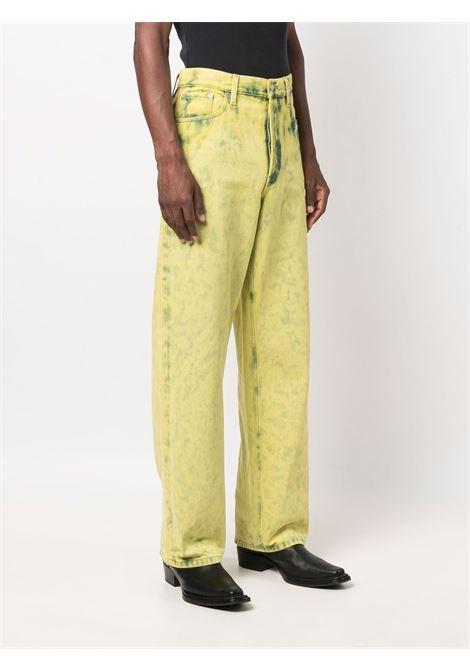 pine trousers man yellow in cotton DRIES VAN NOTEN   Trousers   PINE 3382201